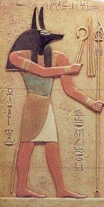Anubi dio a forma di cane